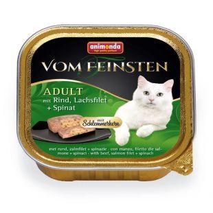 ANIMONDA Vom feinsten schlemmerkern Kassikonservid veiseliha, lõhe ja spinatiga 100 g