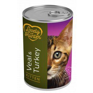 LOVELY HUNTER Kitten veal and turkey konservid kassipoegadele 400 g