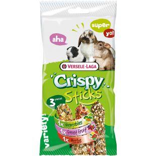 VERSELE LAGA Crispy Sticks Herbivores maiustused närilistele, kolme sorti 3 tk.