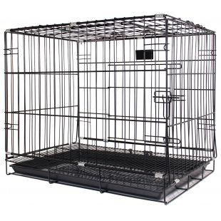 HIPPIE PET Metallpuur lemmikloomade transportimiseks must, 61x43x50 cm