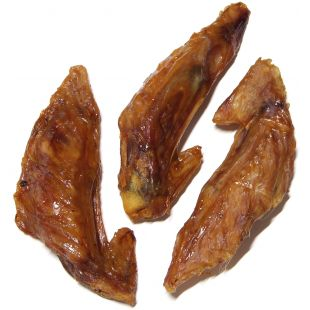 NATURE LIVING Лакомство для собак, сушеные куриные шейки 250 г