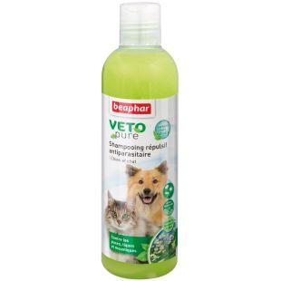 BEAPHAR Parasiitivastane šampoon koertele ja kassidele; kirpude, puukide ja putukate vastu 250 ml
