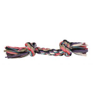 TRIXIE Игрушка для собак, свернутая разноцветная веревка 300 г, 37 см