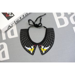 CHEE PET Воротничок Paw Couture, украшен черный