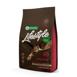 NATURE'S PROTECTION LIFESTYLE Сухой корм для кошек Lifestyle Grain Free Salmon Senior Cat 1.5 кг