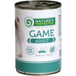 NATURE'S PROTECTION Dog Adult Game Konservid täiskasvanud koertele ulukilihaga 400 g