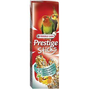 VERSELE LAGA Prestige Sticks maiustus keskmistele papagoidele eksootiliste puuviljadega 2 tk.