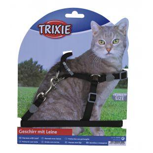 TRIXIE Шлейка с поводком для кошек 0.1x26-37 см, 120 см