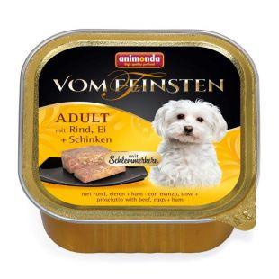ANIMONDA Vom feinsten schlemmerkern Консервы для собак с говядиной, яйцами и ветчиной 150 г