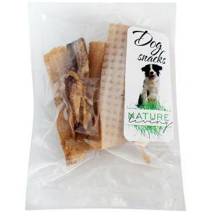 NATURE LIVING Лакомство для собак, сушеные кусочки свиной кожи 100 г