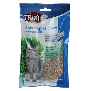 TRIXIE Bio cat grass натуральная трава для кошек 100 г