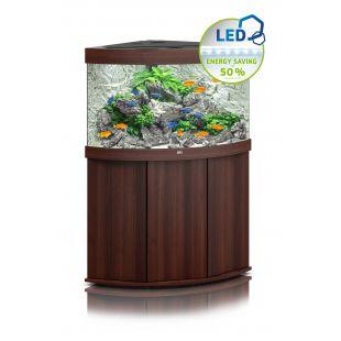 JUWEL LED Trigon 190 аквариум, угловой цвет темного дерева