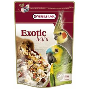 VERSELE LAGA Prestige Premium Exotic Light toit puuviljade ja teraviljaga papagoidele 750 g