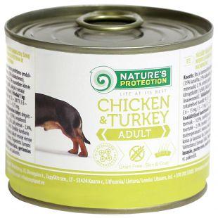 NATURE'S PROTECTION Adult Chicken & Turkey Konservid täiskasvanud koertele 200 g