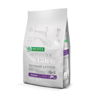 NATURE'S PROTECTION SUPERIOR CARE Сухой корм для собак White Dogs All Breeds Junior Grain Free Salmon 1.5 кг