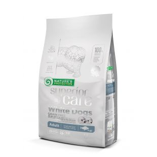 NATURE'S PROTECTION SUPERIOR CARE Сухой корм для собак White Dogs Small & Mini Breeds Adult Grain Free White Fish 1.5 кг