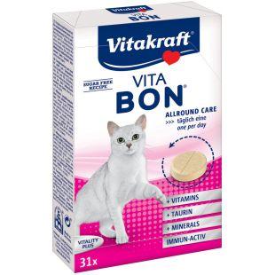 VITAKRAFT Vita-Bon Cat Multi-Vitamin toidulisand kassidele 31 tabletid