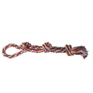 TRIXIE Игрушка для собак, свернутая разноцветная веревка 500 г, 60 см
