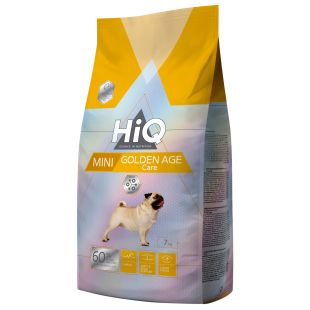 HIQ Kuivtoit koertele Mini Golden Age Care 7 kg