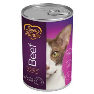 LOVELY HUNTER Консервы для кошек с говядиной 400 г