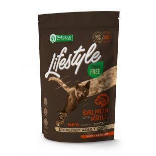NATURE'S PROTECTION LIFESTYLE Kuivtoit kassidele Lifestyle Grain Free Salmon with Krill Sterilised Adult Cat 400 g