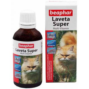 BEAPHAR Laveta Super Cat витамини для шерсти 50 мл
