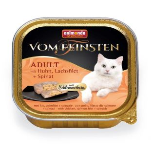 ANIMONDA Vom feinsten schlemmerkern Kassikonservid kana-, lõhe ja spinatiga 100 g