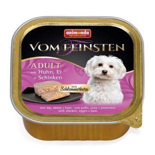 ANIMONDA Vom feinsten schlemmerkern консервы для собак с курицей, яйцами и ветчиной 150 г