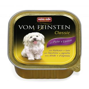 ANIMONDA Vom feinsten classic Консервы для собак с индейкой и бараниной 150 г