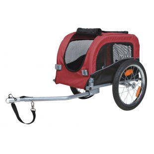 TRIXIE прицеп велосипедный чёрный/красный, 53x60x60 см, S размер