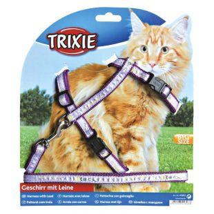 TRIXIE Шлейка с поводком для кошек 0.13x34-57 см, 120 см