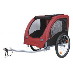 TRIXIE прицеп велосипедный чёрный/красный, 75x86x80 см, L размер