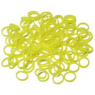 LAINEE 100tk lateks-elastsed kummid 8 mm, kollane