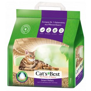 JRS CAT'S BEST SMART PELLETS наполнитель для кошачьего туалета, древесный, комкующийся 10л