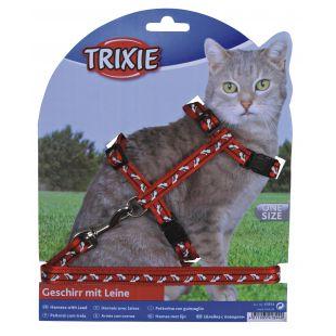 TRIXIE Шлейка с поводком для кошек 0.1x27-46 см, 120 см