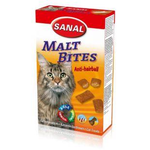 SANAL Cat Malt Bits Anti-Hairball toidulisand kassidele pulstunud karvade vastu 75 g