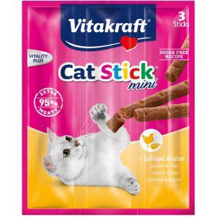 VITAKRAFT Cat-Stick Mini linnuliha ja maksaga 3 tk.