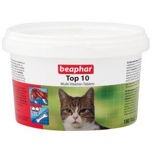 BEAPHAR Top 10 cat пищевая добавка для кошек 180 таблетки