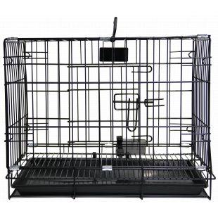 HIPPIE PET Metallpuur lemmikloomade transportimiseks must, 76x48x57 cm HAUGATUD HINNAD
