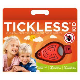 TICKLESS Kid ультразвуковой брелок от клещей и блох, для людей оранжевый