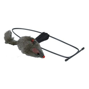TRIXIE Kassi mänguasi, kummiga hiir 8 cm/190 cm
