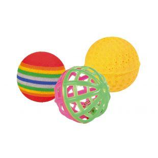 TRIXIE Kassi mänguasi, pallid 3 tk., 3.5-4 cm