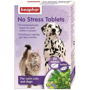 """BEAPHAR No Stress Tablets ? looduslik, taimse p""""ritoluga rahusti 1 tk (20 tbl)"""