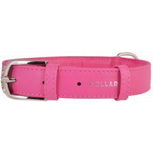 COLLAR Nahast kaelarihm roosa, 3.5x46-60 cm