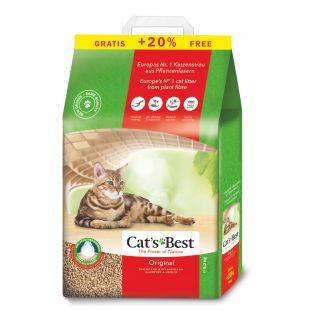 JRS CAT'S BEST ORIGINAL наполнитель для кошачьего туалета, древесный, комкующийся 10 + 2 л