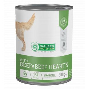 NATURE'S PROTECTION Beef and Beef Hearts koerakonservid 800 g x 6
