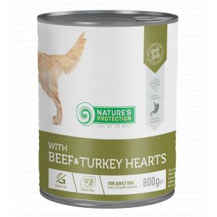 NATURE'S PROTECTION Beef and Turkey Hearts koerakonservid 800 g