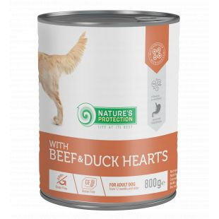 NATURE'S PROTECTION Beef and Duck Hearts koerakonservid 800 g