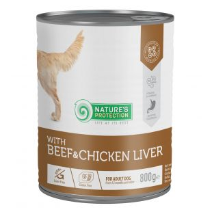 NATURE'S PROTECTION Beef and Chicken Liver Консервы для собак 800 г