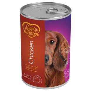 LOVELY HUNTER Adult Chicken Konservid täiskasvanud koertele kanalihaga 400 g